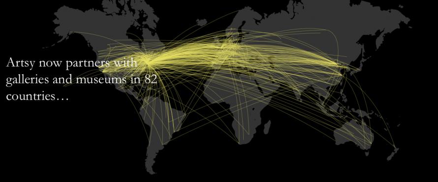 Artsy Digital Annual Report Data Visualisation