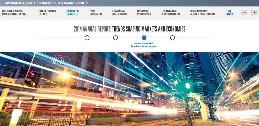 Goldman Sachs Digital Annual Report Design