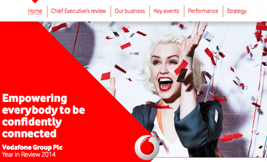 Vodaphone's beautifully deisgned digital annual report 2014