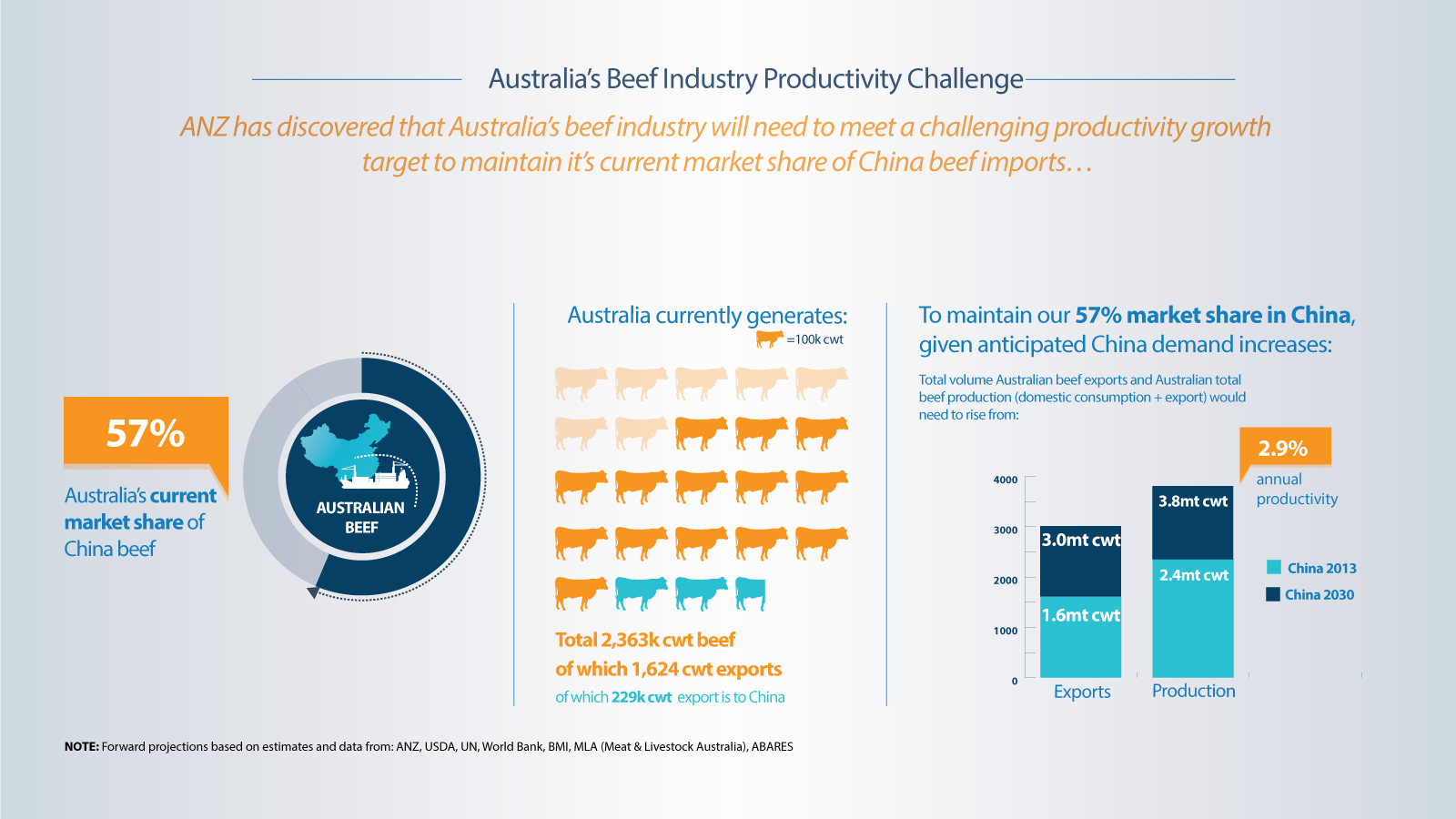 China Beef Animated Data Video for ANZ