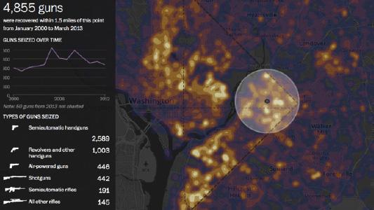 interactive data visualisation example: Washington Post's visual content for media