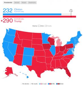 Bloomberg US Election Data Visualisation Geomap