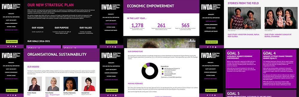 IDWA Interactive Annual Report Microsite