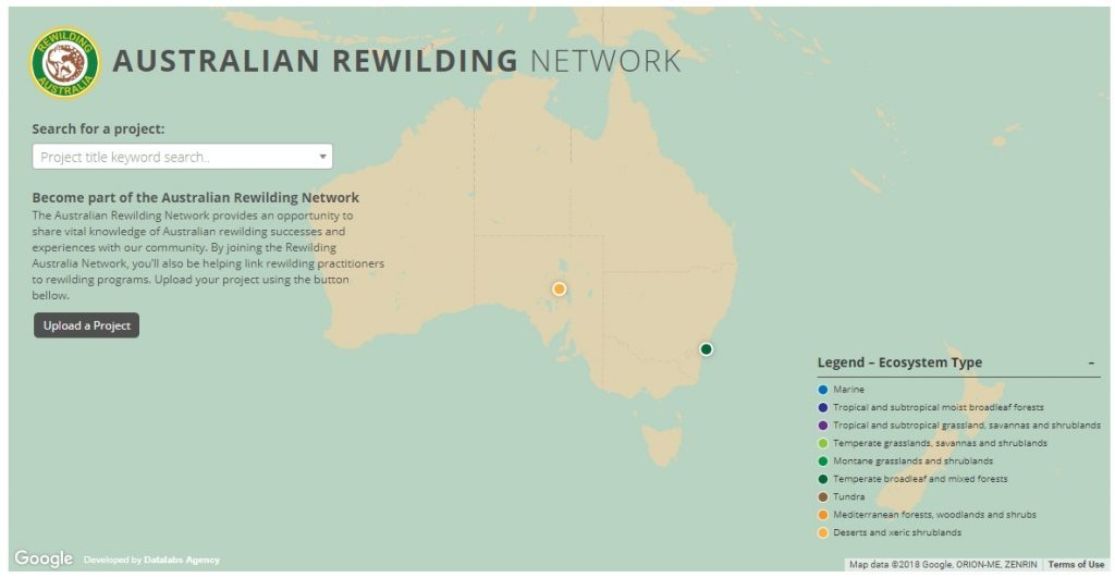 Map of Australia for interactive project