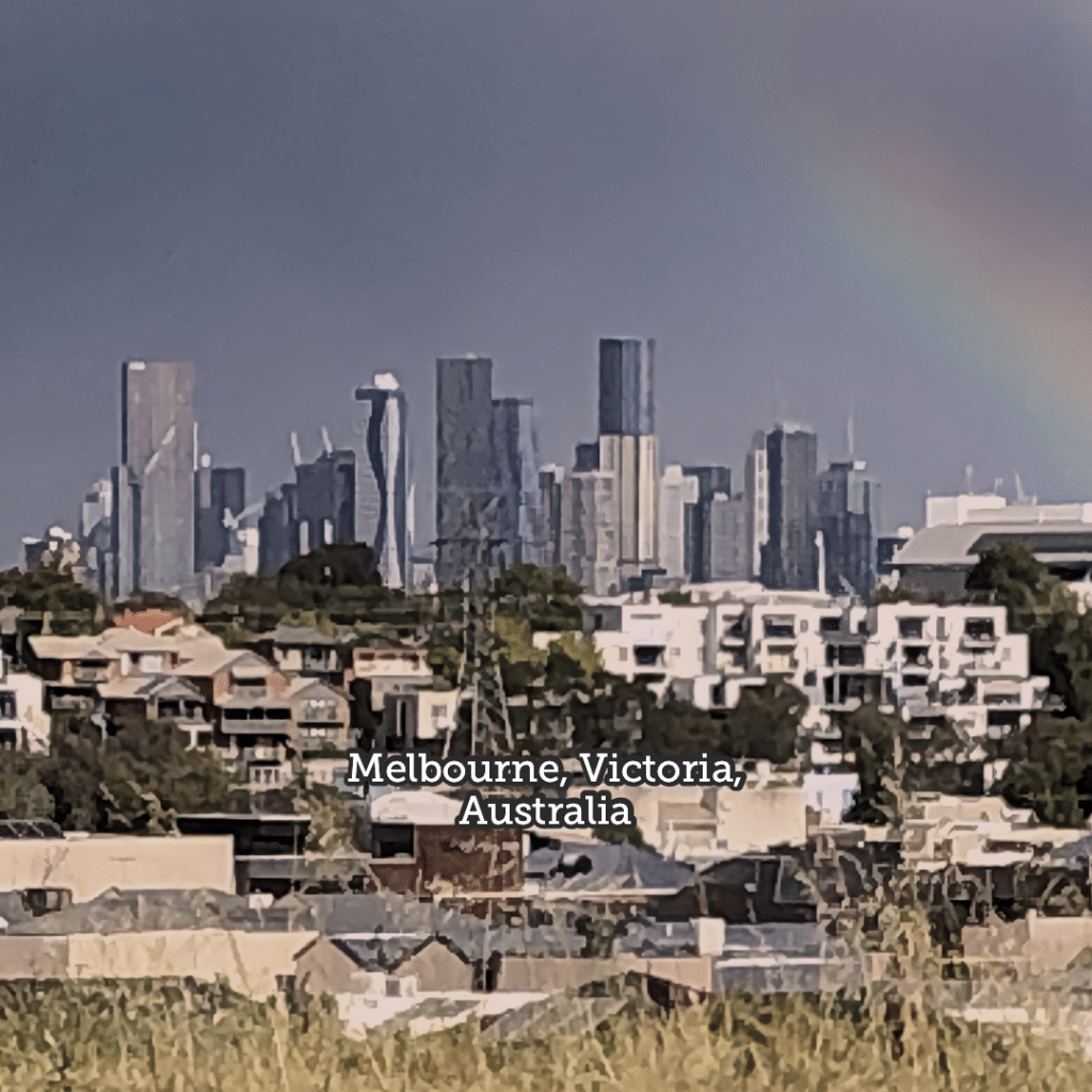 Photo of the Melbourne, Australia skyline from the Australian Ammunition Factory campus.